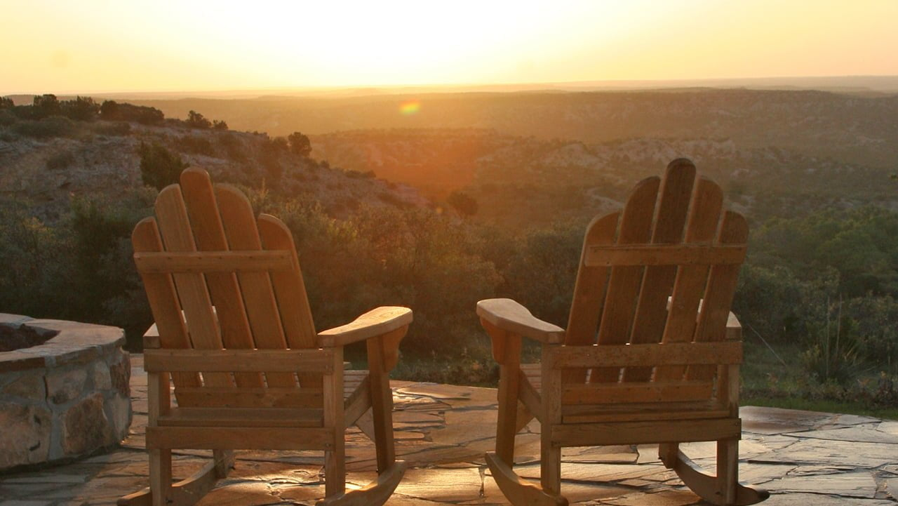outdoors chairssunrise